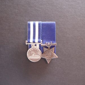 Miniature Egypt Medal 1882-1889 and Khedive Star (Replica)