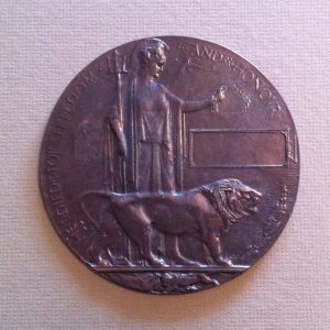 World War 1 Death Medallion