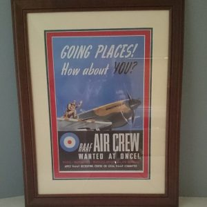World War 2 RAAF Recruitment Poster Framed